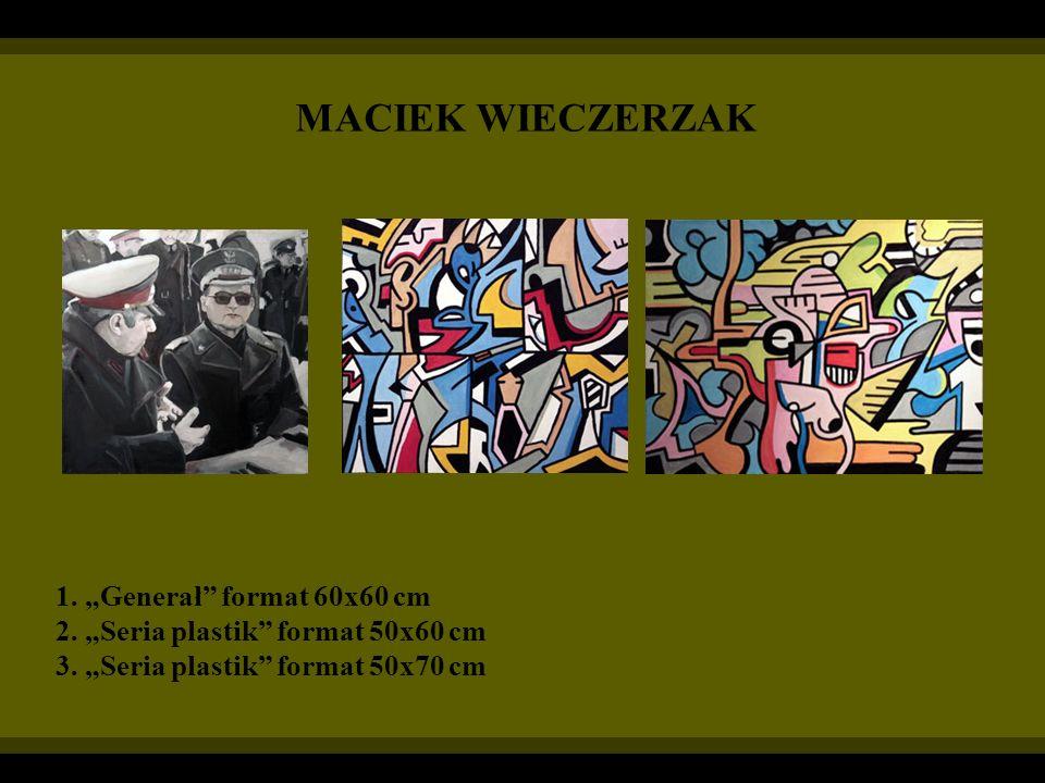 """MACIEK WIECZERZAK 1. """"Generał format 60x60 cm"""