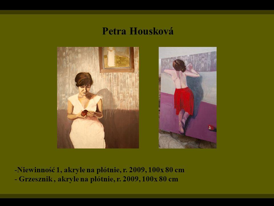 Petra Housková Niewinność 1, akryle na płótnie, r. 2009, 100x 80 cm