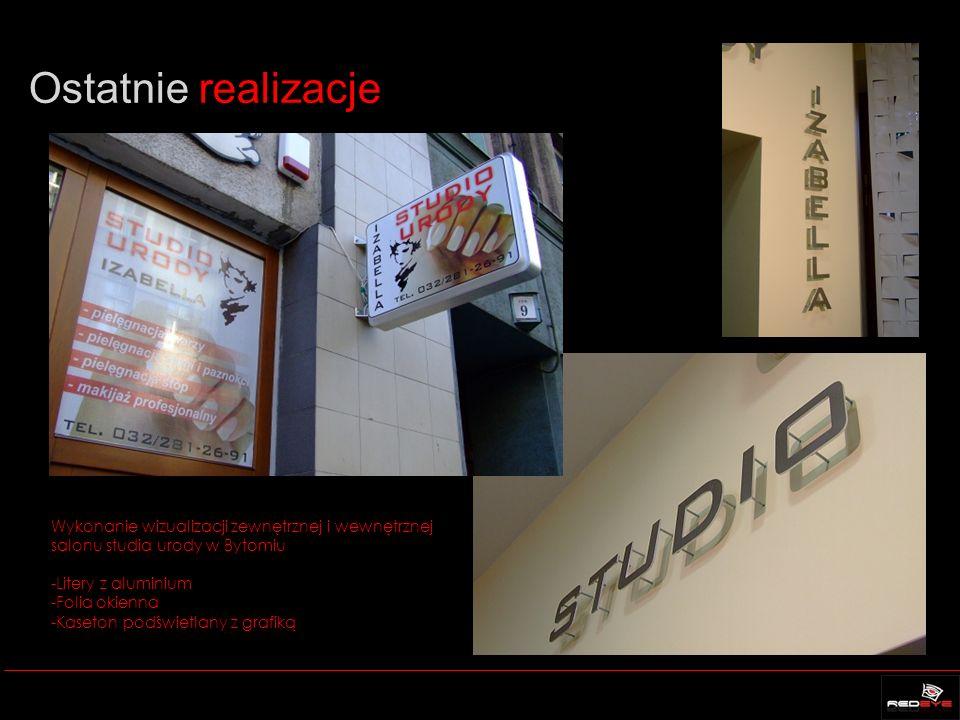 Ostatnie realizacje Wykonanie wizualizacji zewnętrznej i wewnętrznej salonu studia urody w Bytomiu.