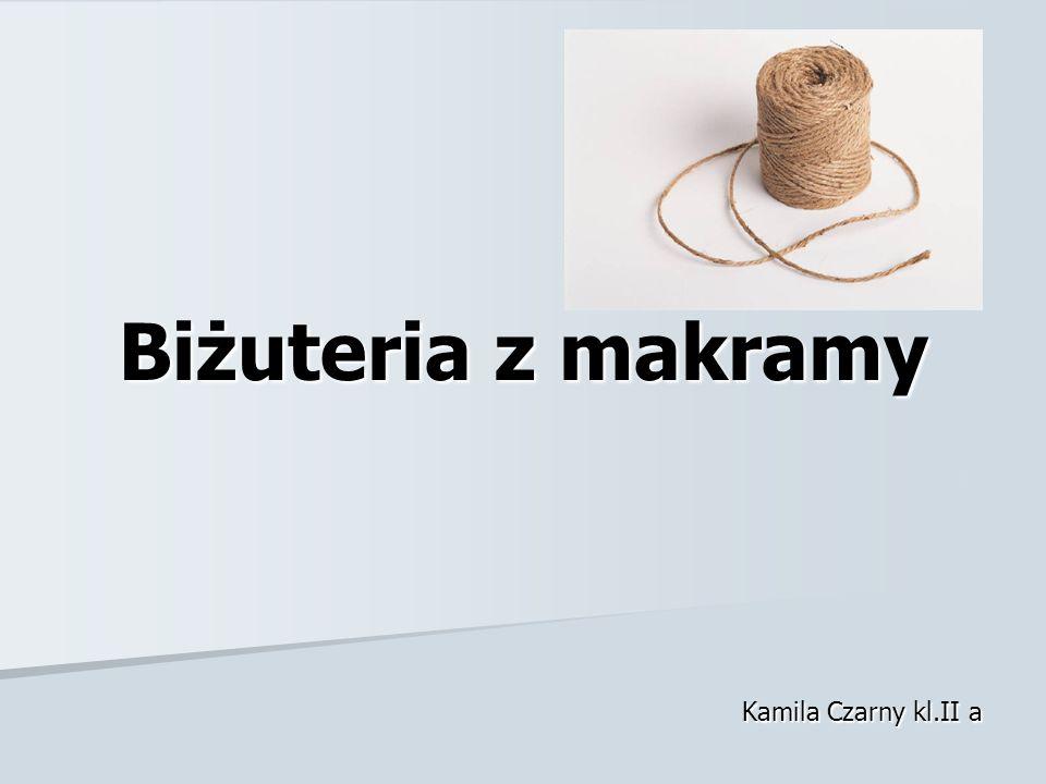 Biżuteria z makramy Kamila Czarny kl.II a