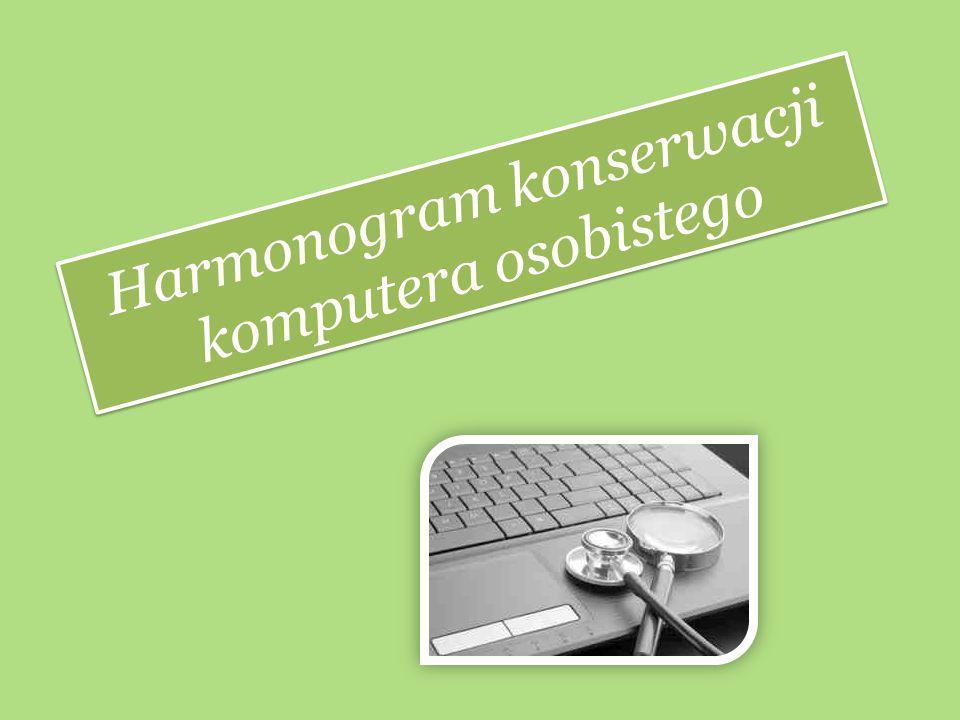 Harmonogram konserwacji komputera osobistego