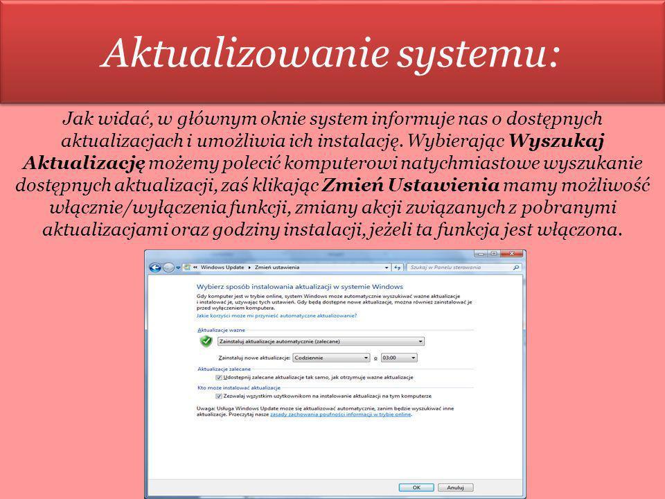 Aktualizowanie systemu: