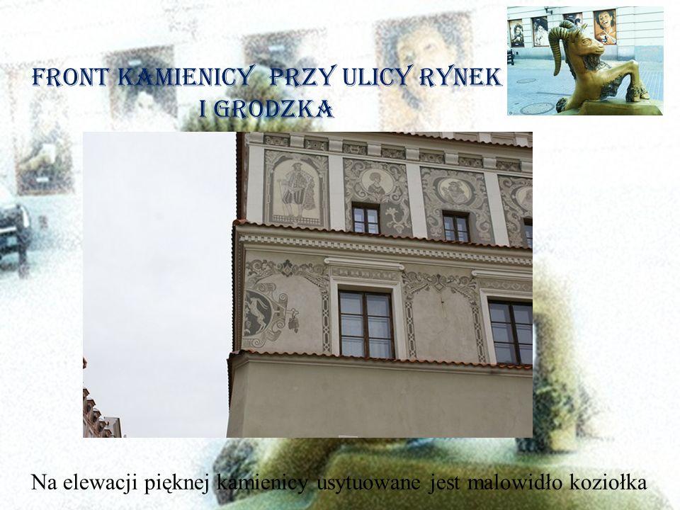 Front Kamienicy przy ulicy Rynek i Grodzka