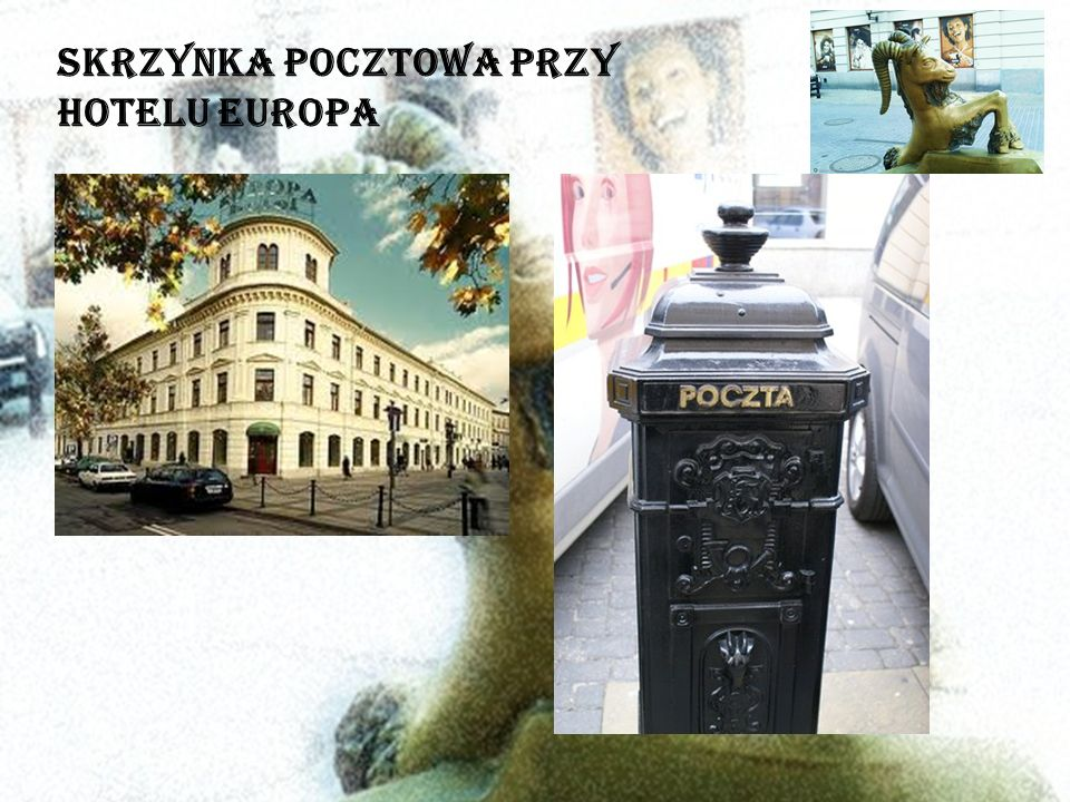 Skrzynka pocztowa przy Hotelu Europa