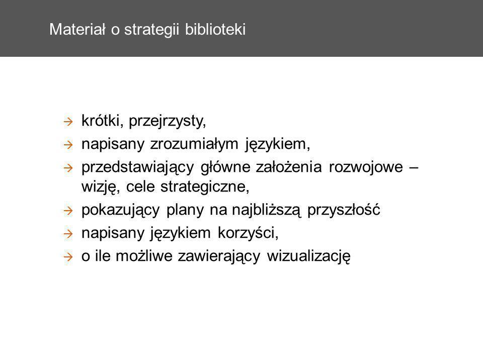 Materiał o strategii biblioteki