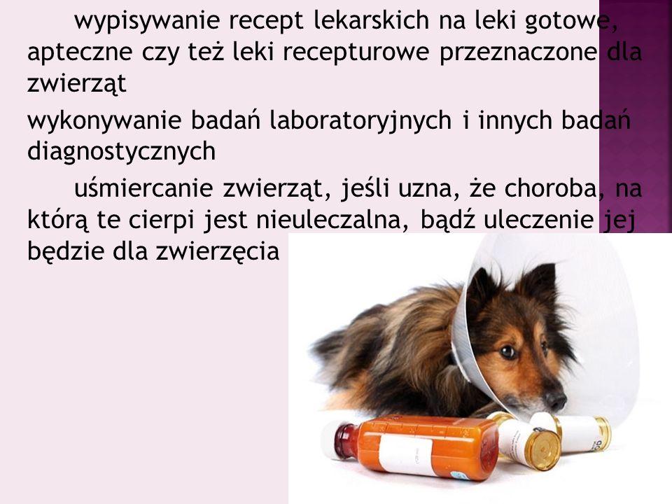 wykonywanie badań laboratoryjnych i innych badań diagnostycznych