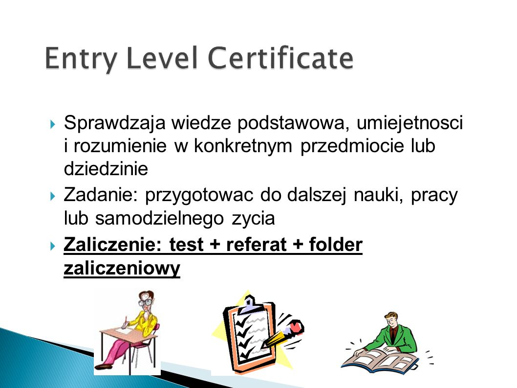 Entry Level Certificate
