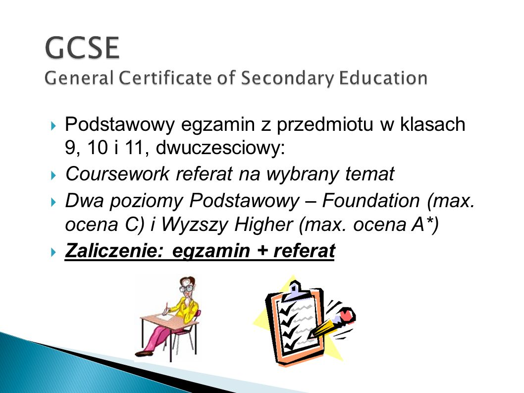 GCSE General Certificate of Secondary Education