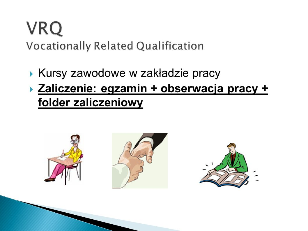 VRQ Vocationally Related Qualification