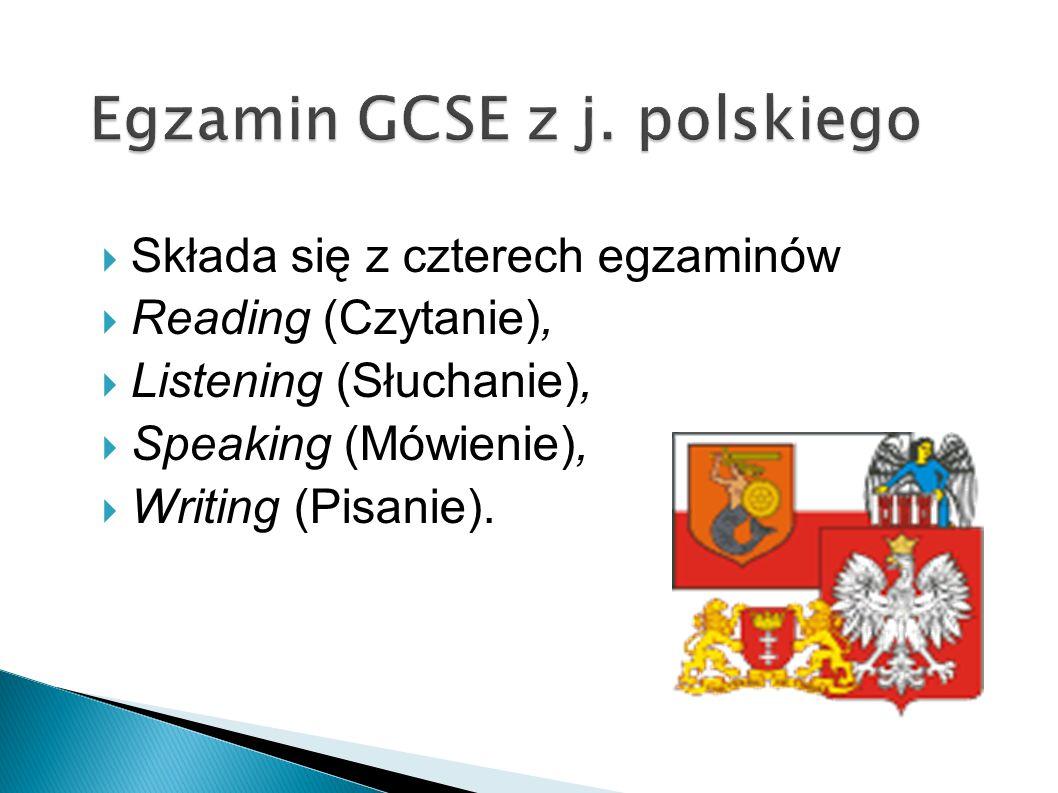 Egzamin GCSE z j. polskiego