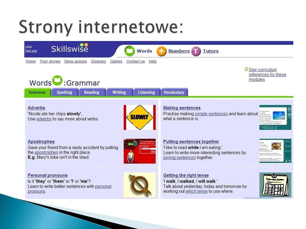 Strony internetowe: