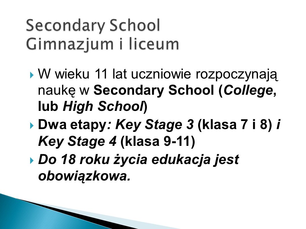 Secondary School Gimnazjum i liceum
