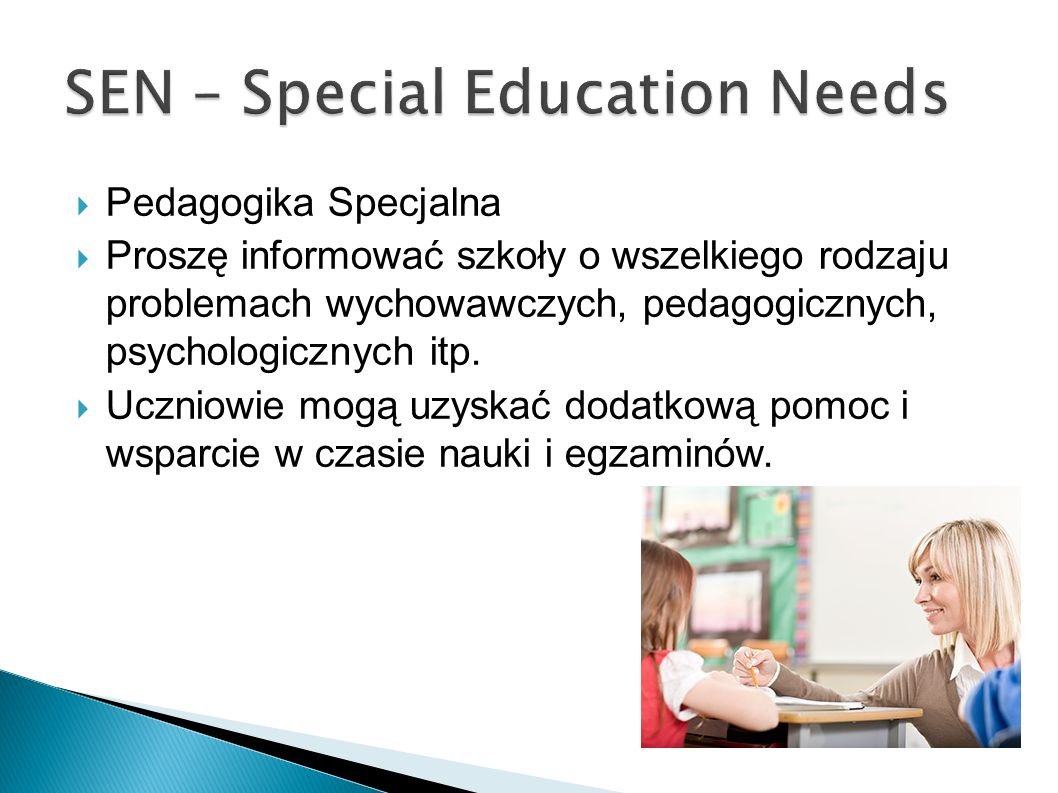 SEN – Special Education Needs