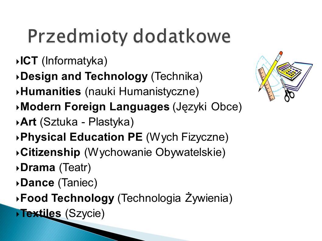 Przedmioty dodatkowe ICT (Informatyka)