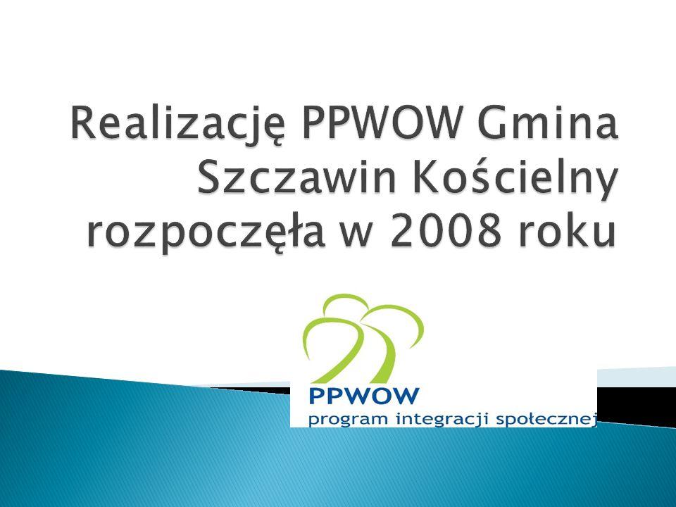 Realizację PPWOW Gmina Szczawin Kościelny rozpoczęła w 2008 roku