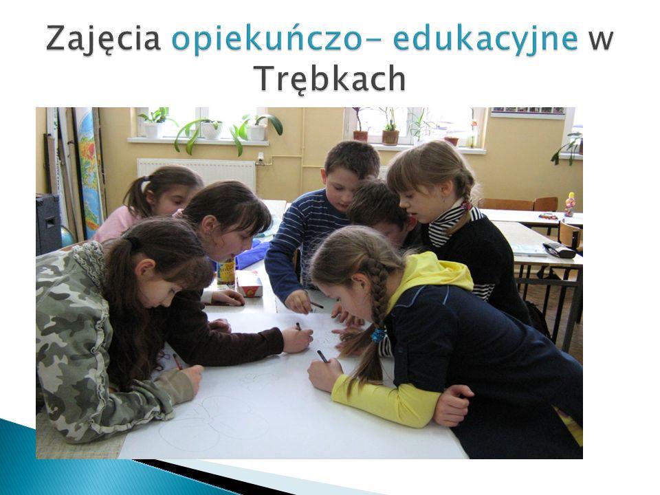 Zajęcia opiekuńczo- edukacyjne w Trębkach