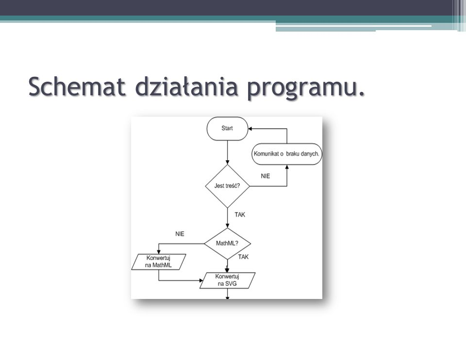 Schemat działania programu.