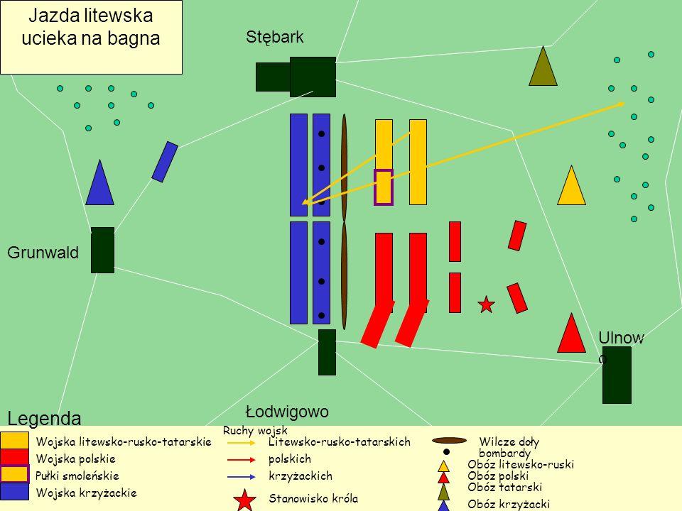 Jazda litewska ucieka na bagna