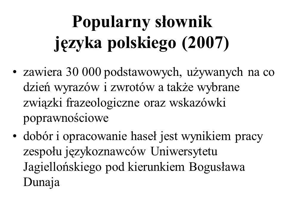 Popularny słownik języka polskiego (2007)
