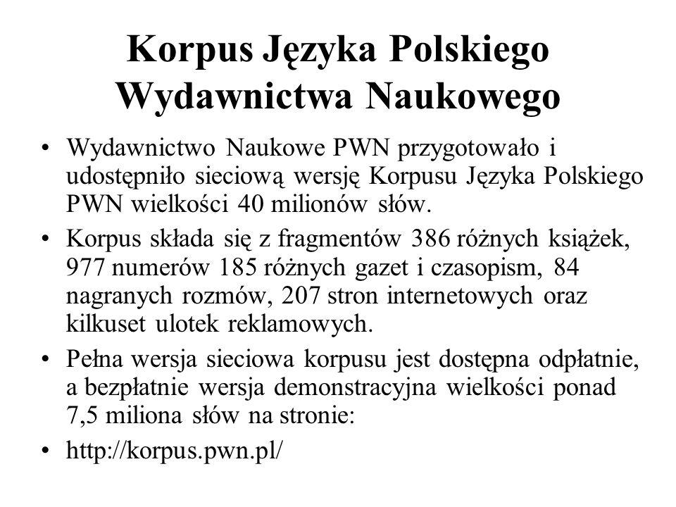 Korpus Języka Polskiego Wydawnictwa Naukowego
