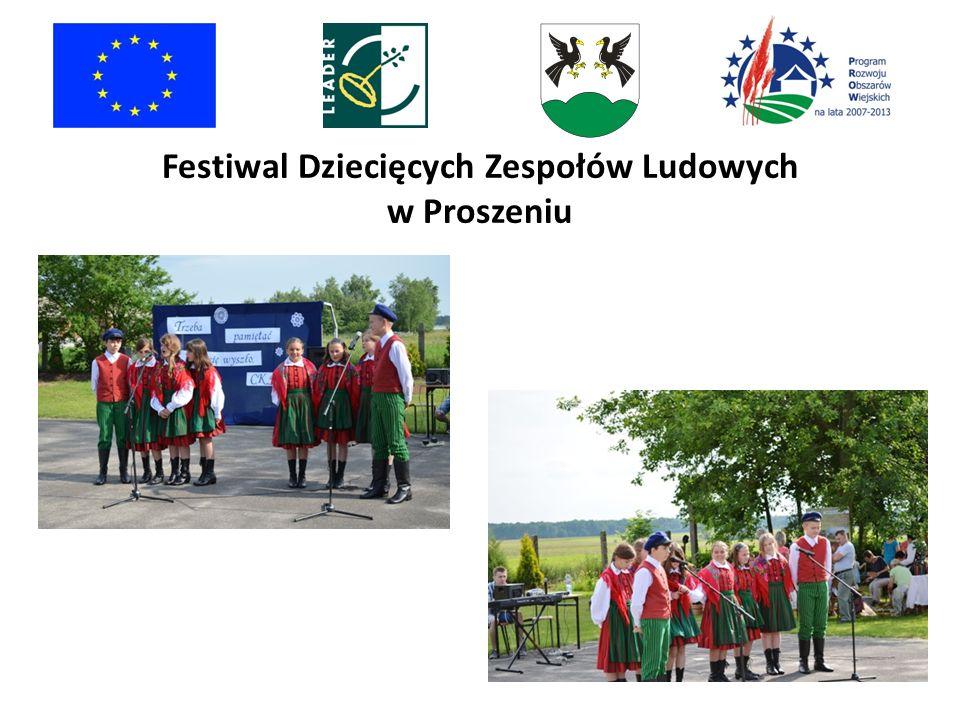 Festiwal Dziecięcych Zespołów Ludowych w Proszeniu