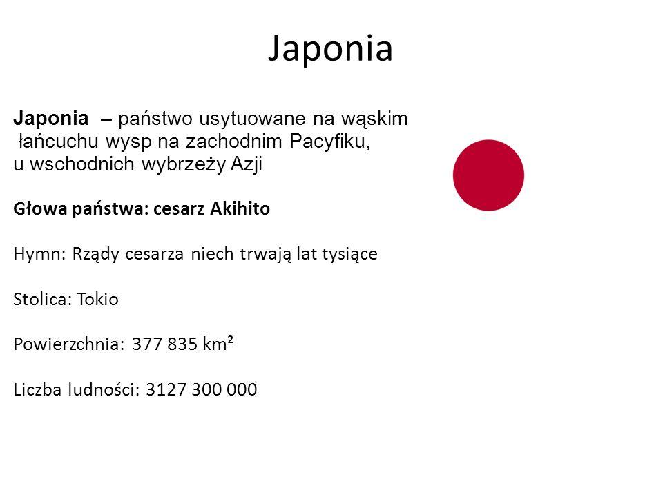 Japonia Japonia – państwo usytuowane na wąskim