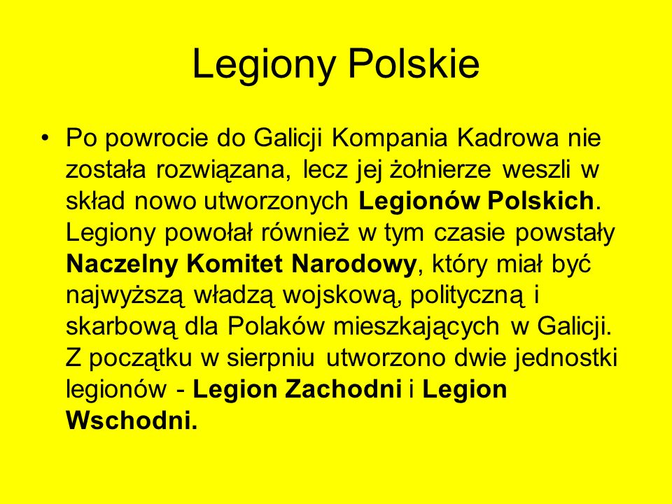 Legiony Polskie