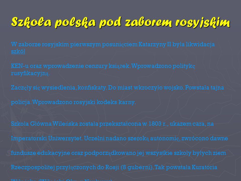 Szkoła polska pod zaborem rosyjskim