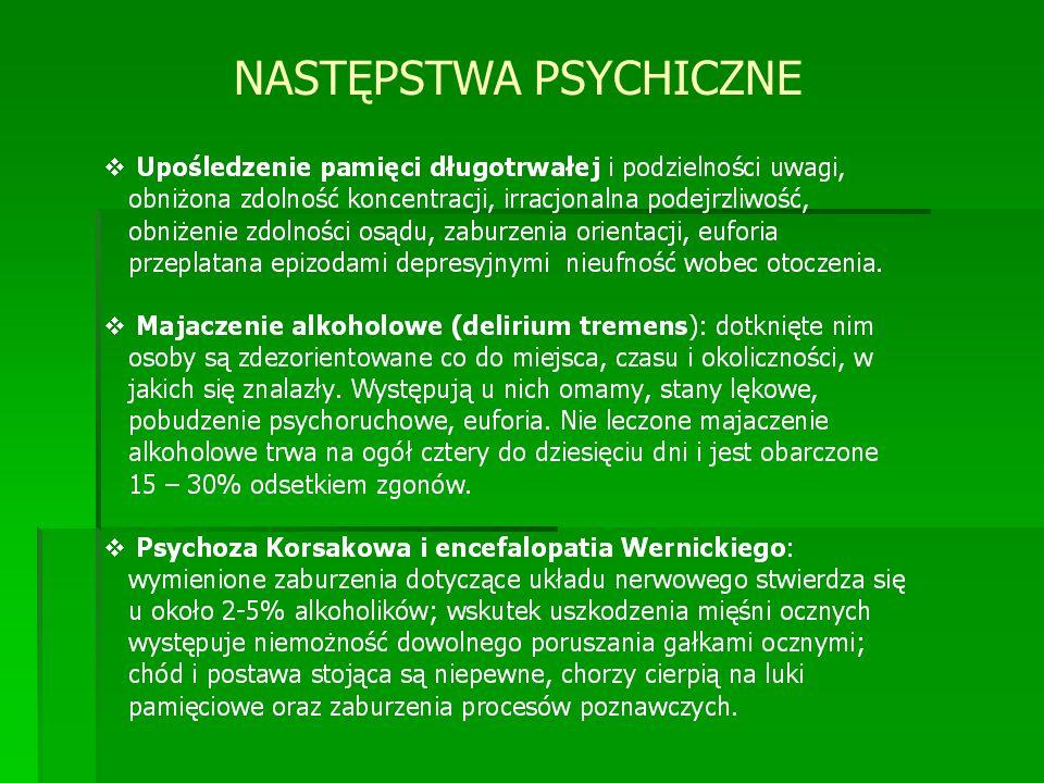 NASTĘPSTWA PSYCHICZNE