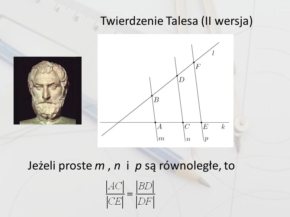 Twierdzenie Talesa (II wersja)