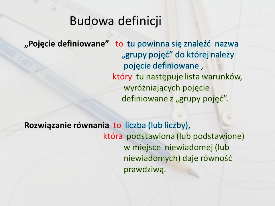 Budowa definicji