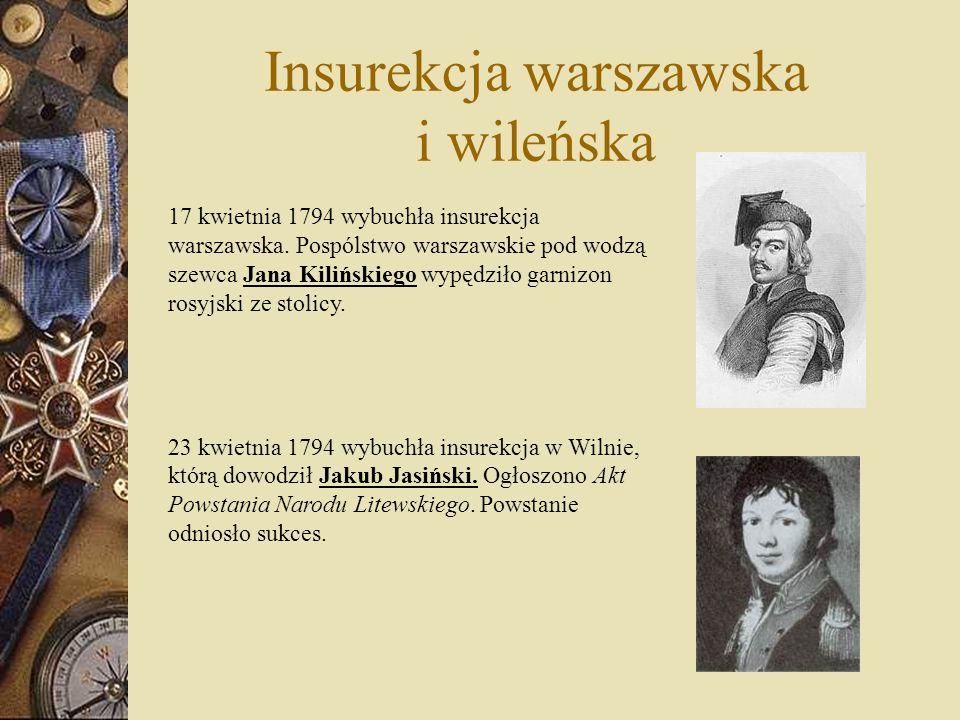 Insurekcja warszawska i wileńska