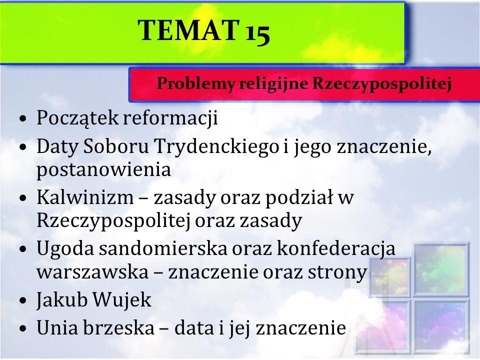 Problemy religijne Rzeczypospolitej