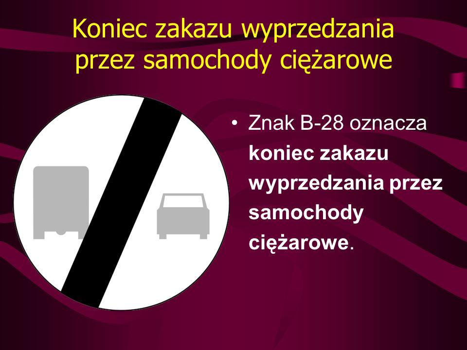 Koniec zakazu wyprzedzania przez samochody ciężarowe