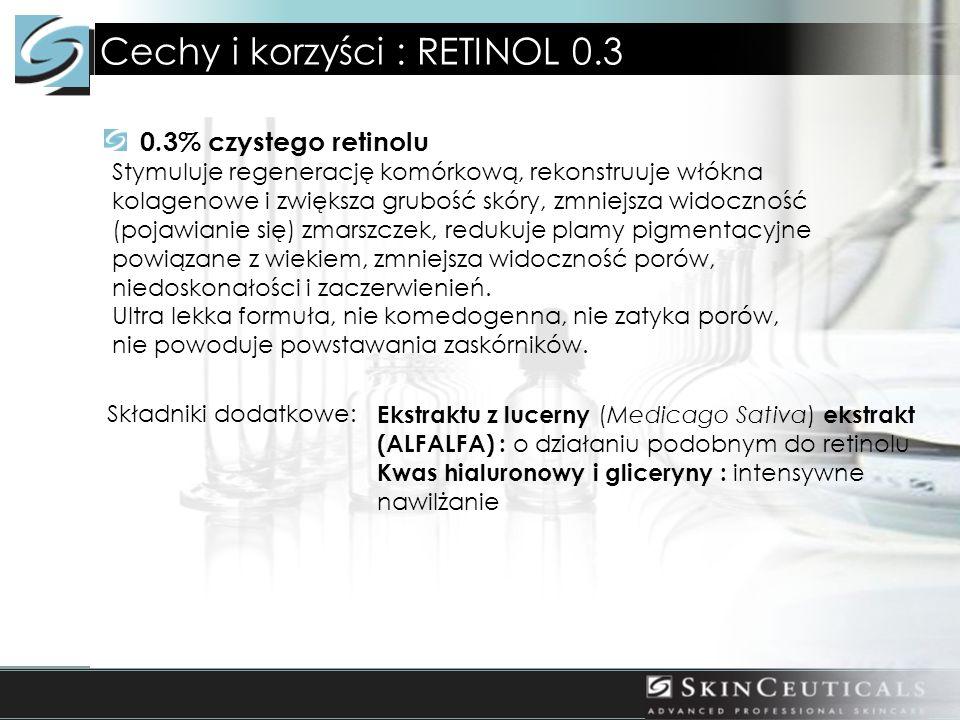 Cechy i korzyści : RETINOL 0.3