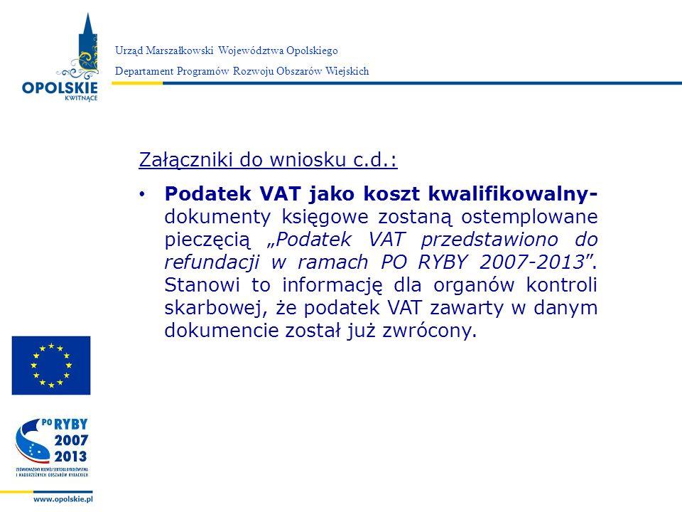 Załączniki do wniosku c.d.: