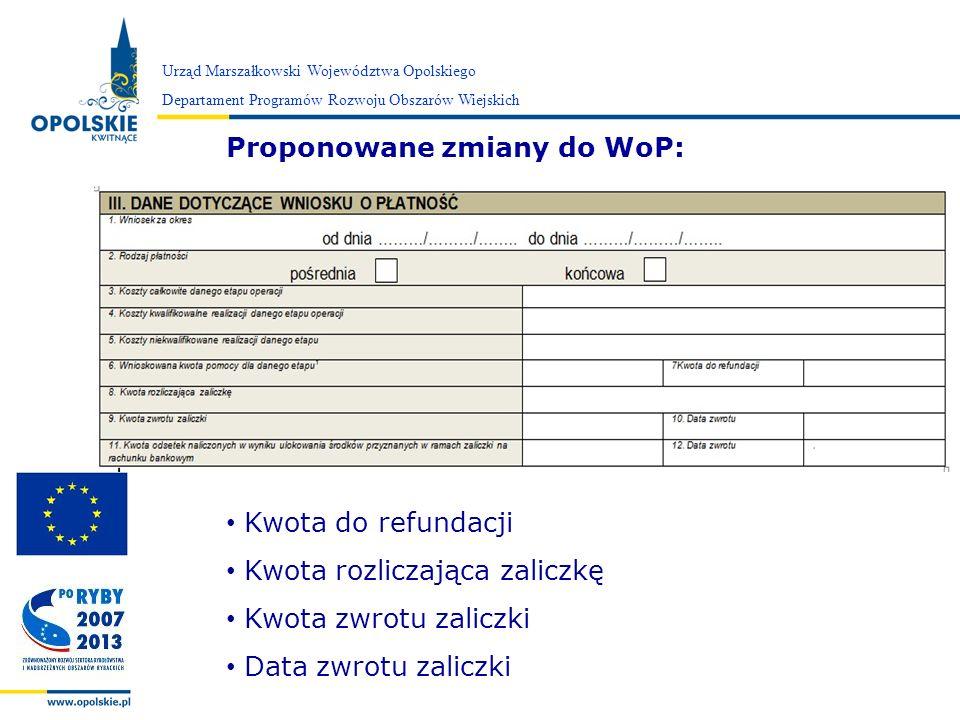 Proponowane zmiany do WoP:
