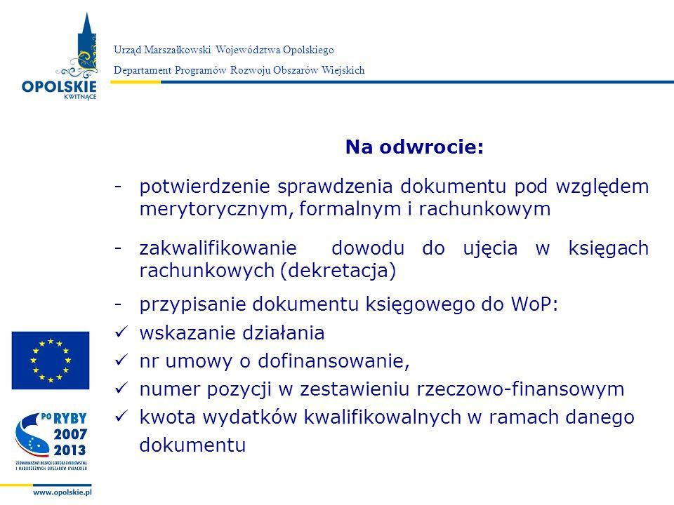 zakwalifikowanie dowodu do ujęcia w księgach rachunkowych (dekretacja)