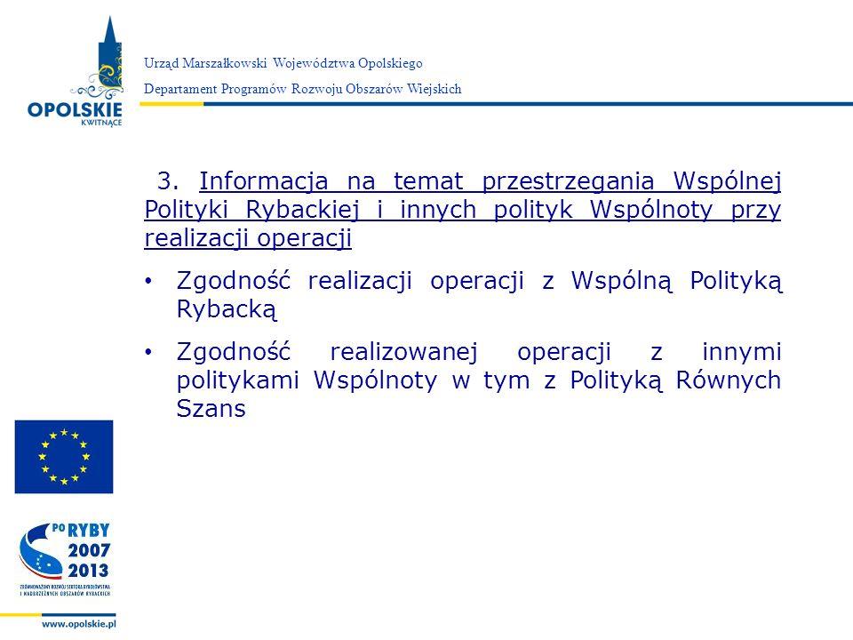 Zgodność realizacji operacji z Wspólną Polityką Rybacką