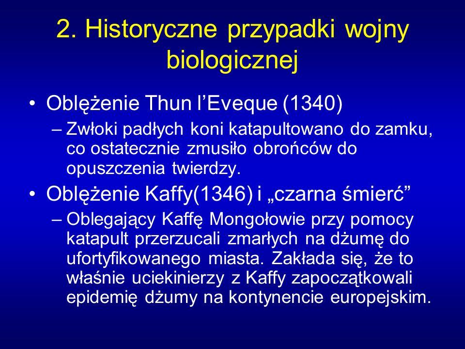 2. Historyczne przypadki wojny biologicznej