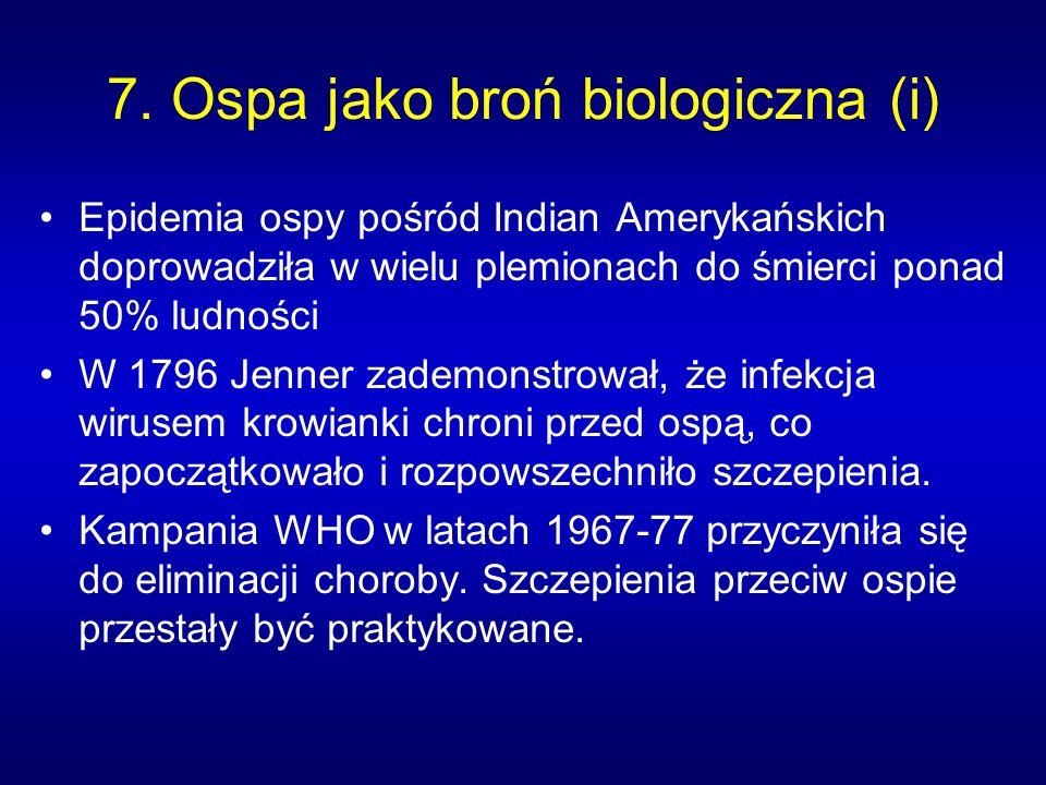7. Ospa jako broń biologiczna (i)