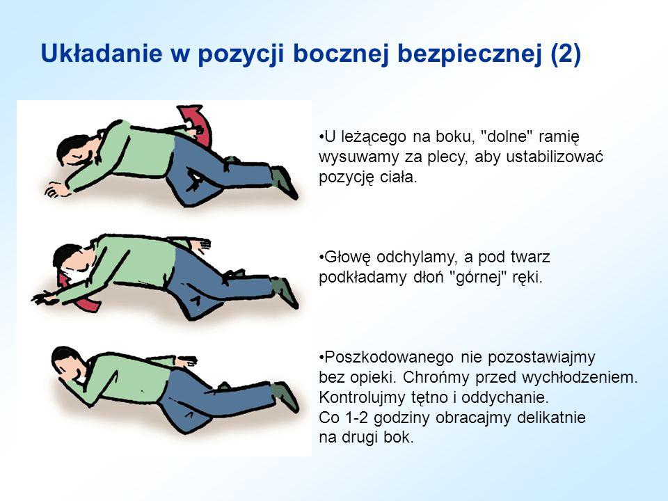 Układanie w pozycji bocznej bezpiecznej (2)