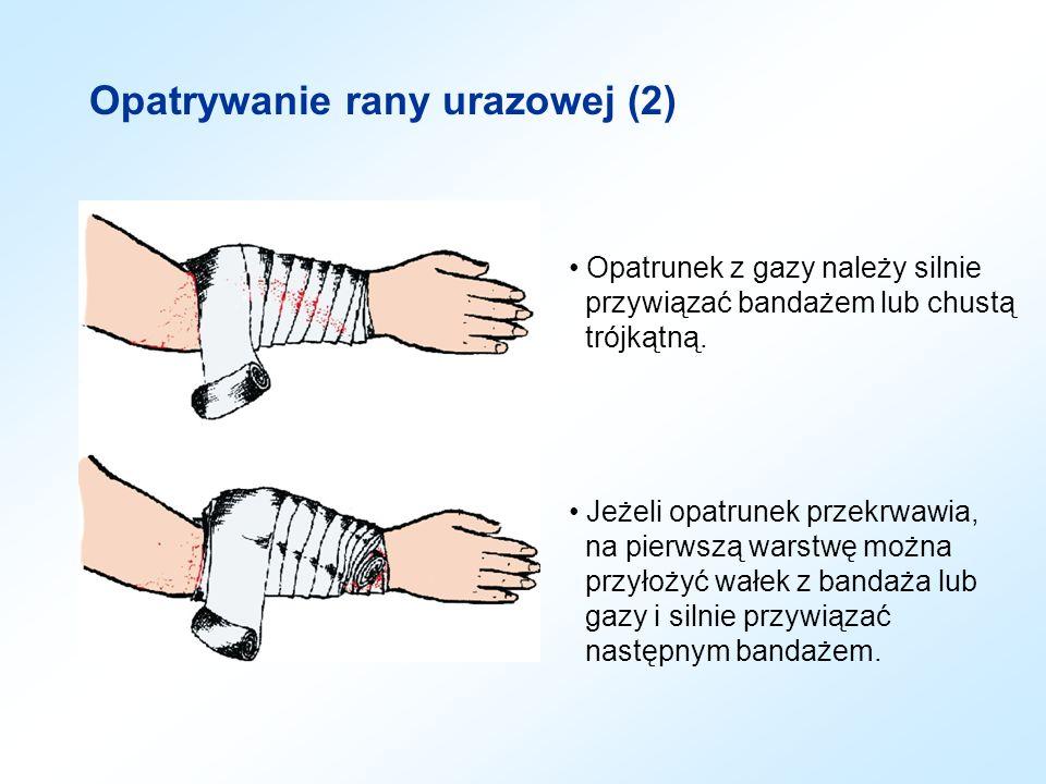 Opatrywanie rany urazowej (2)