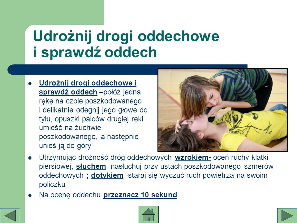 Udrożnij drogi oddechowe i sprawdź oddech
