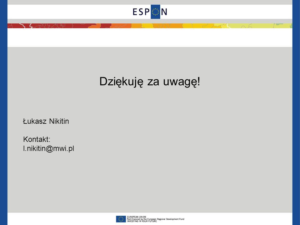 Dziękuję za uwagę! Łukasz Nikitin Kontakt: l.nikitin@mwi.pl