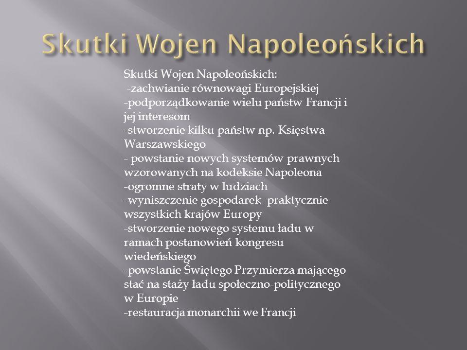 Skutki Wojen Napoleońskich