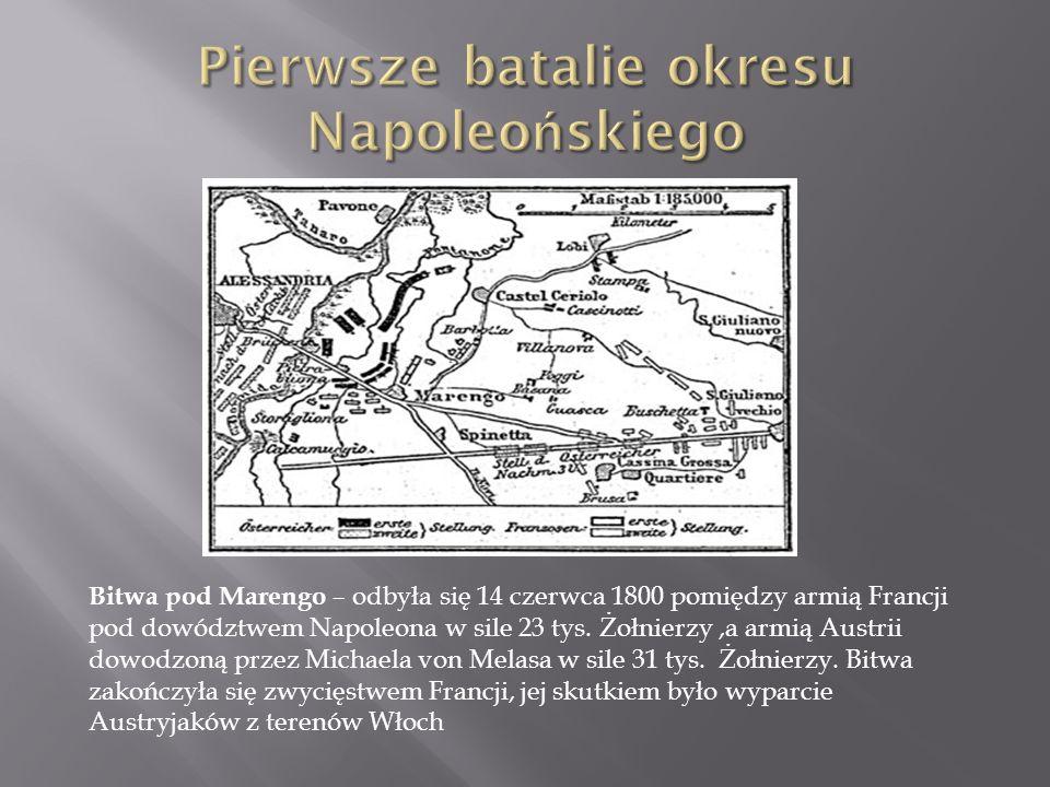 Pierwsze batalie okresu Napoleońskiego