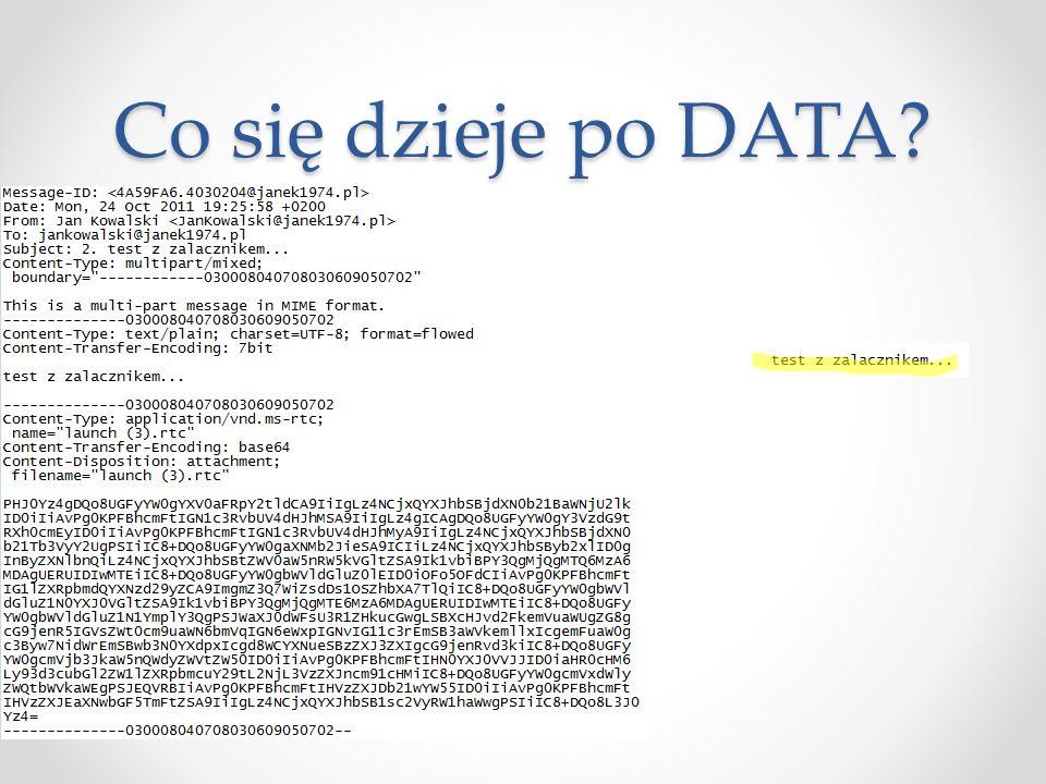 Co się dzieje po DATA