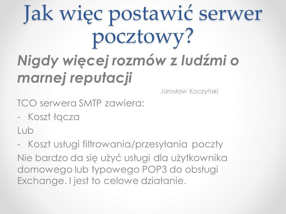 Jak więc postawić serwer pocztowy