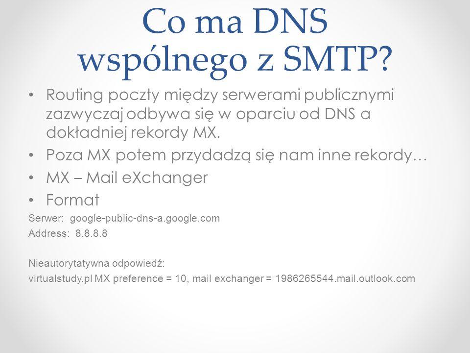 Co ma DNS wspólnego z SMTP